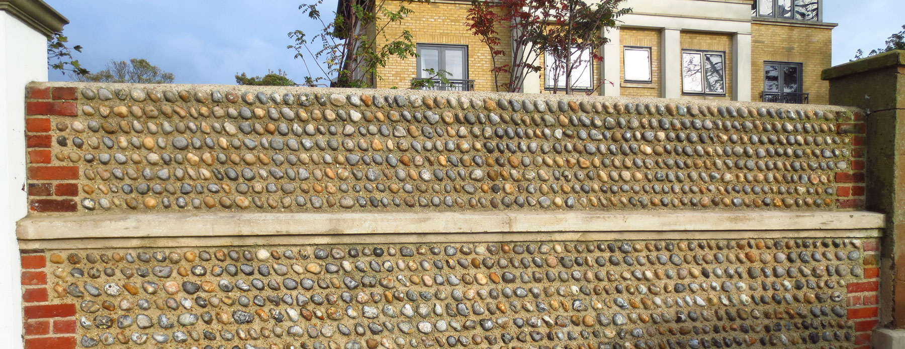 cobble wall - worthing