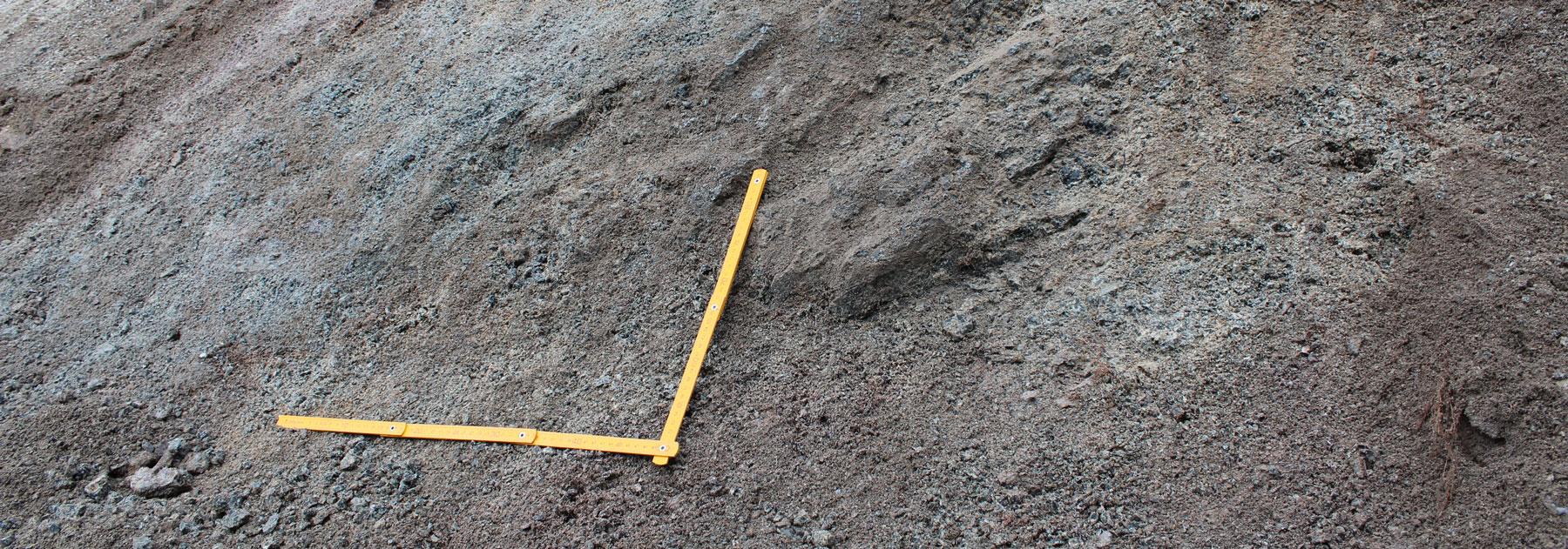 archeological dig detail