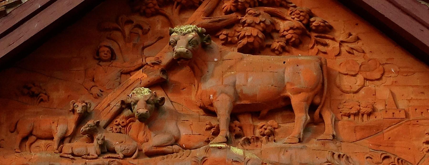 brick cow, waddesdon