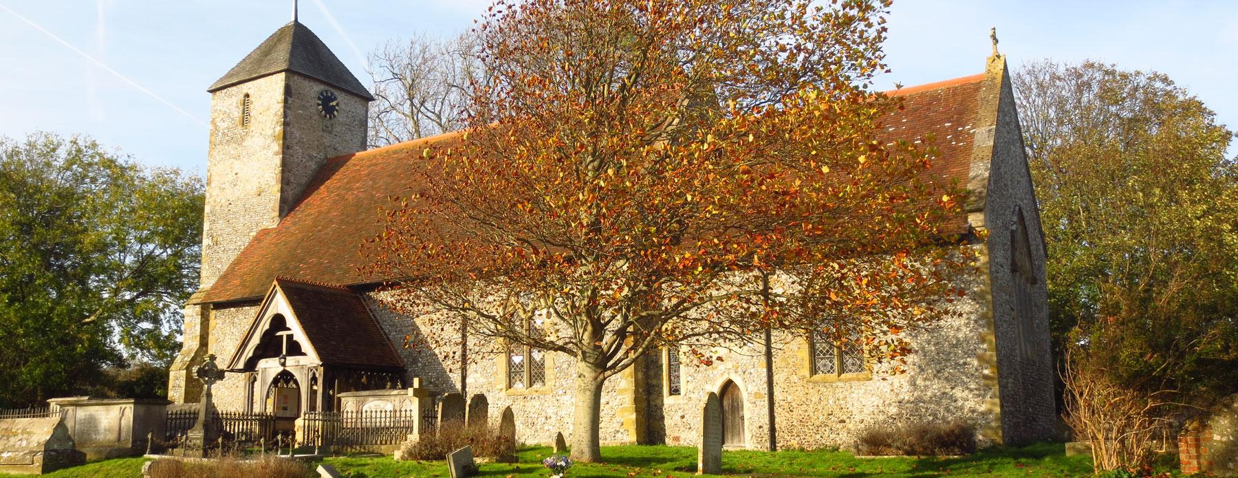 flint rebuild, st. pancras church, kingston