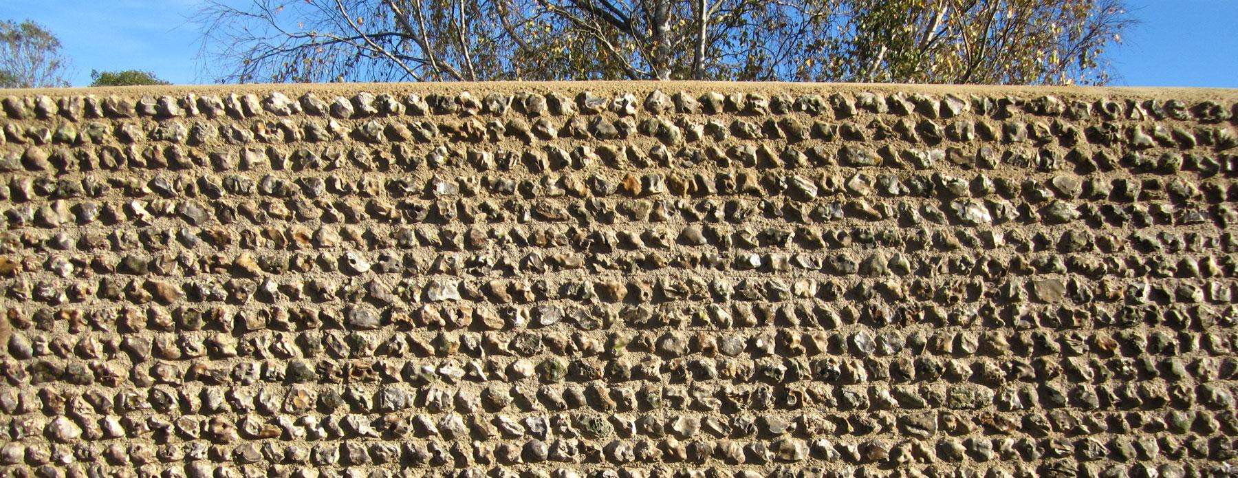 field flint wall - berwick